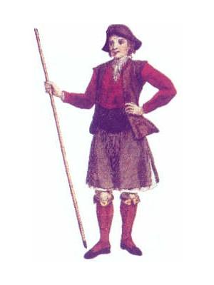 falda gallego siglo en Betanzos XVIII traje rural masculina Antiguo de del antes con RfaHxq