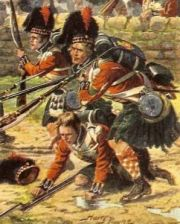 Scotland's best known regiment, The Black Watch, fighting with the Galicians in the Battle of Corunna, 1808